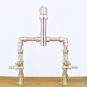 Mekong Copper Mixer Tap, Proper Copper Design, Copper Mixer Tap, Handcrafted Tap, Copper and Brass tap