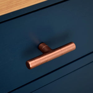 Copper Craftsmanship-copper t knob-copper knobs-drawer knobs-copper ironmongery-copper kitchen handles