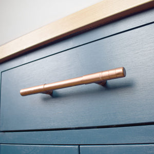 Long t bar pull-t bars-t pulls-copper pulls-drawer handles-kitchen door handles-copper handles-t handles