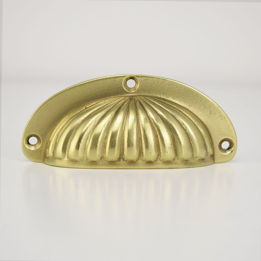 Brass Scalloped Cup Handle - Proper Copper Design