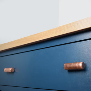 Copper Knob - Ridged - Proper Copper Design