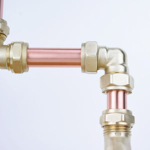 Solomon Copper Mixer Tap, Proper Copper Design, Copper Mixer Tap, Handcrafted Tap, Copper and Brass tap