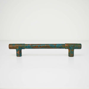 Dark Verdigris Copper Handle - All Over - Proper Copper Design