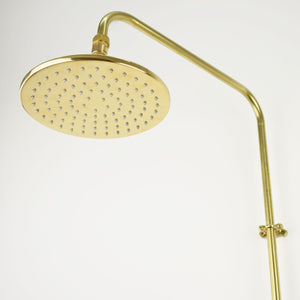 Brass Shower Head - Flat Round Minimal - Proper Copper Design