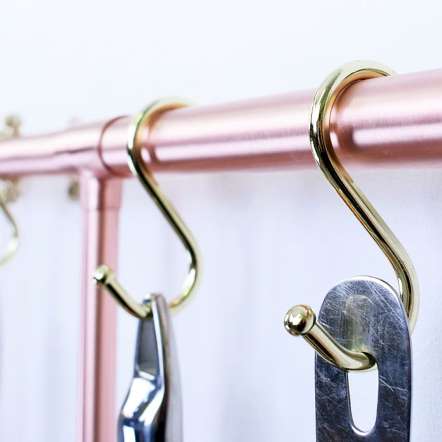 Brass S Hooks - Proper Copper Design