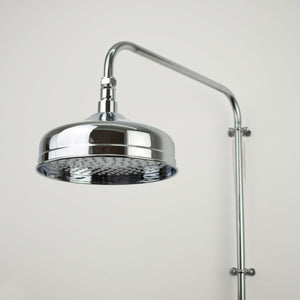Chrome Shower Head - Medium Bell Shape - Proper Copper Design