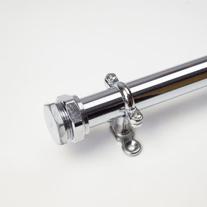 Proper Copper Design-22mm Curtain Rails-Chrome Curtain Rails-Curtain Poles-Chrome Fittings-Chrome Homeware