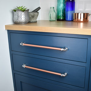 Chrome and Copper Handle / Pull - Proper Copper Design