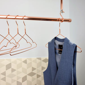 Proper Copper Design-Hanging Clothes Rails-Copper Clothes Rails-Hanging Clothes Storage-Hanging Copper Rails-Copper Wardrobe-Copper interior