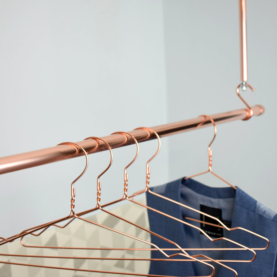 Hanging Copper Clothes Rail - Proper Copper Design