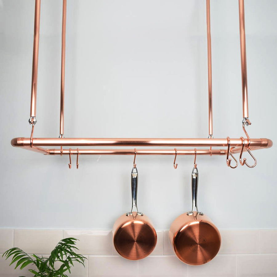 Copper Ceiling Pot and Pan Rack - Proper Copper Design