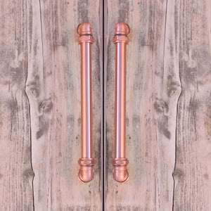Industrial Copper Handle with Bolt Ends - Proper Copper Design