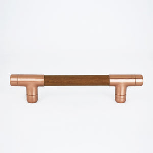Copper Handle with Wood (Iroko) T-shaped - Proper Copper Design