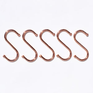 Copper S Hooks - Copper Pot and Pan Storage Solutions