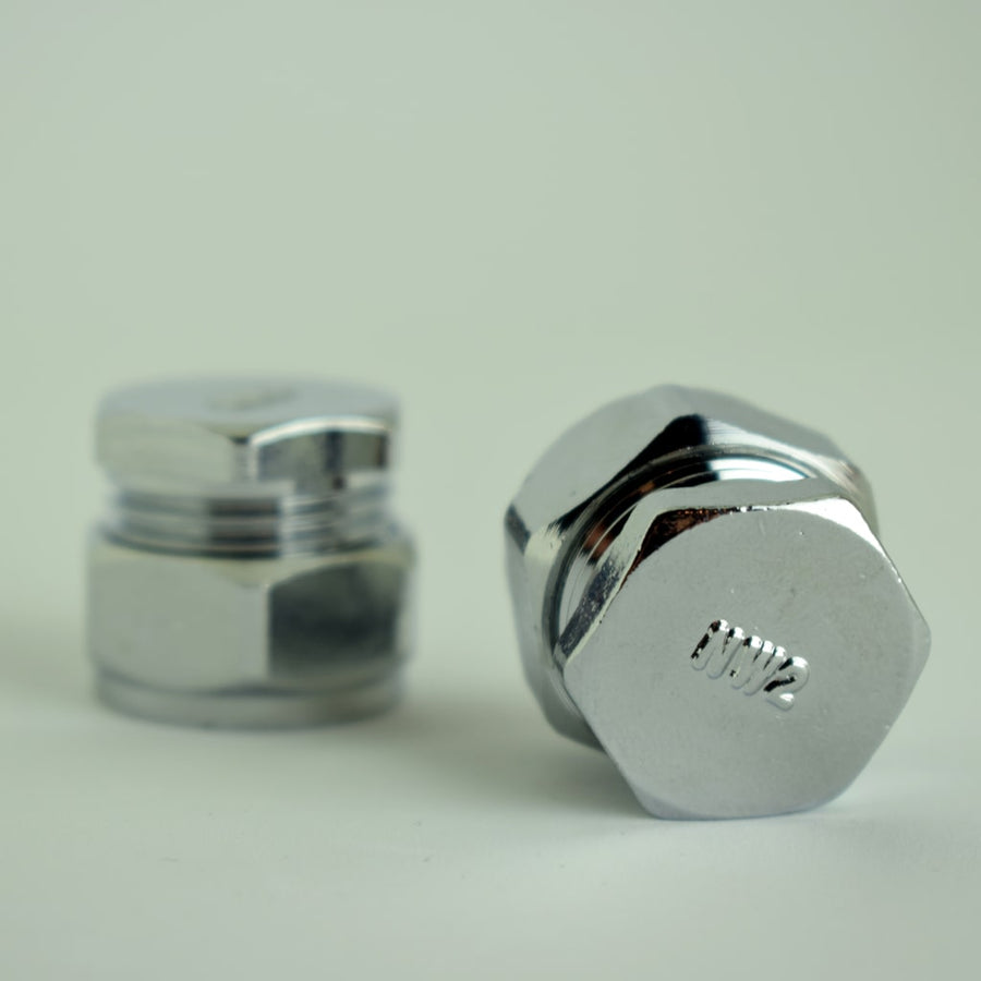 Flush Chrome Knob - Proper Copper Design