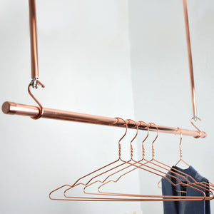 Copper Clothes Hangers - Proper Copper Design Copper Clothes Storage Solutions