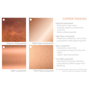 copper finishes-brushed copper-handfinished