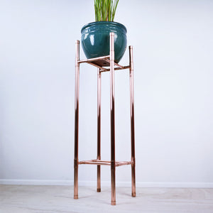 Proper Copper Design - Handmade Tall Copper Plant Stand-hanging plants-tall stands-plant table
