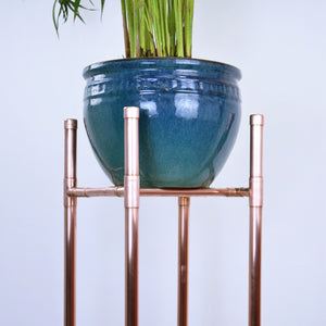 Proper Copper Design - Handmade Tall Copper Plant Stand-tables-plants-holders-hangers-tall-copper-hallways-dining room-kitchen-bathroom-garden