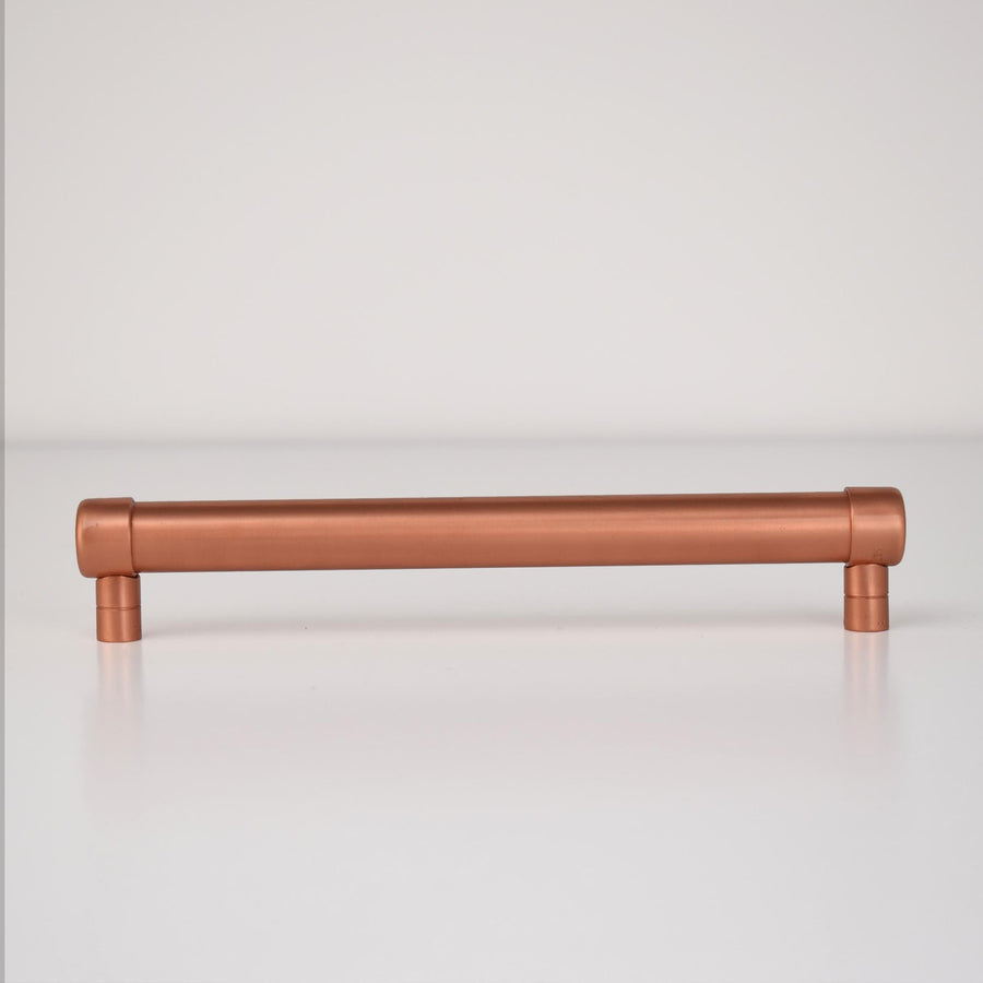 Copper Bar Handle - Raised - Proper Copper Design