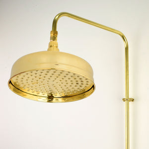 Brass Shower Head - Large Traditional Bell - Proper Copper Design