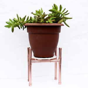 proper copper design-plant stand-windowsill plant-copper stand-plant decoration-indoor plants