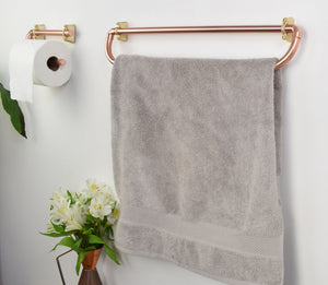 Rounded Copper Bathroom Set - Proper Copper Design