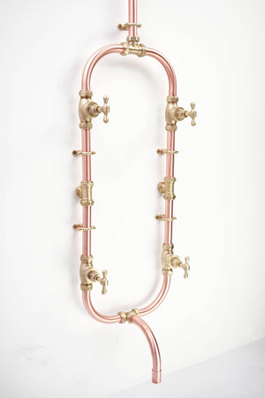 Copper and Brass Shower - Kanagawa - Proper Copper Design