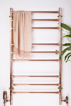 handmade bespoke copper towel ladder rack rail radiator proper copper design