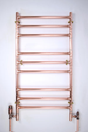 Heated Copper Towel Ladder - Proper Copper Design