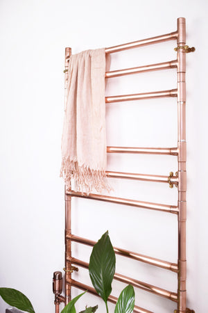 handmade copper towel ladder rack rail radiator industrial design