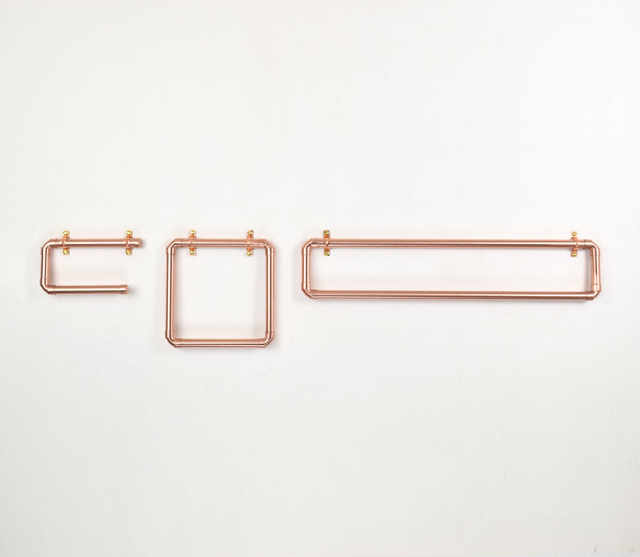 Copper Bathroom Set - Proper Copper Design