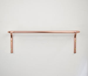 Copper Twin Rail Towel Rack - Proper Copper Design