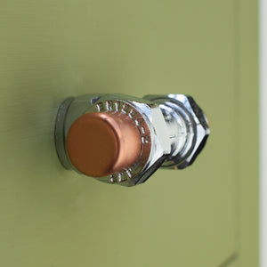 Chrome and Copper Knob - T-Shaped - Proper Copper Design