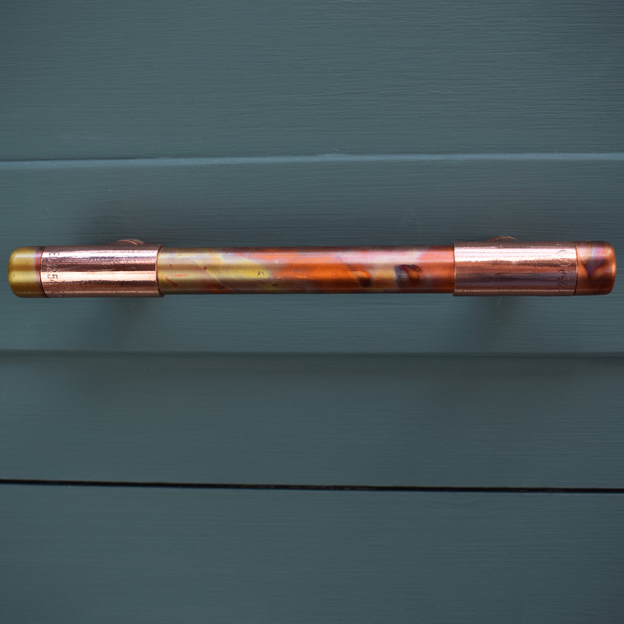 Copper Pull Handle - Marbled / High Polish Mix - Proper Copper Design