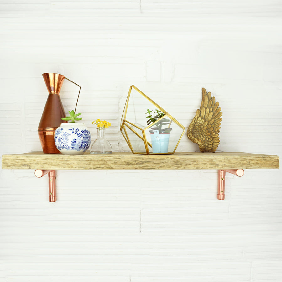 Small Copper Shelving Bracket - Proper Copper Design