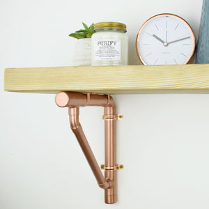 Handmade Copper Shelving Bracket