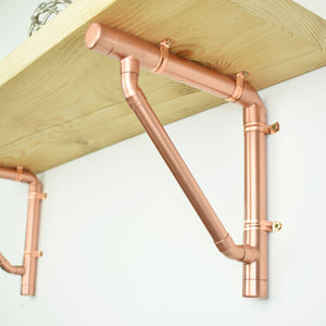Handmade Copper Shelving Bracket - Proper Copper Design