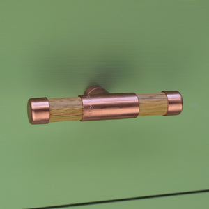 Copper Knob with Oak T-Shaped - Proper Copper Design