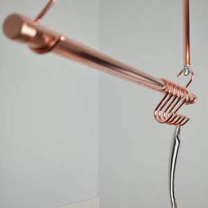 Copper Hanging Pot and Pan Rail - Proper Copper Design