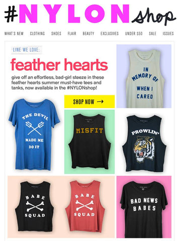 FEATHER HEARTS NYLON MAG