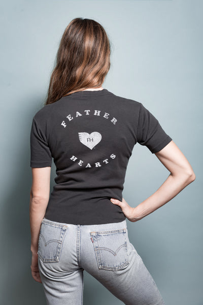 retro feather hearts logo uo who what wear