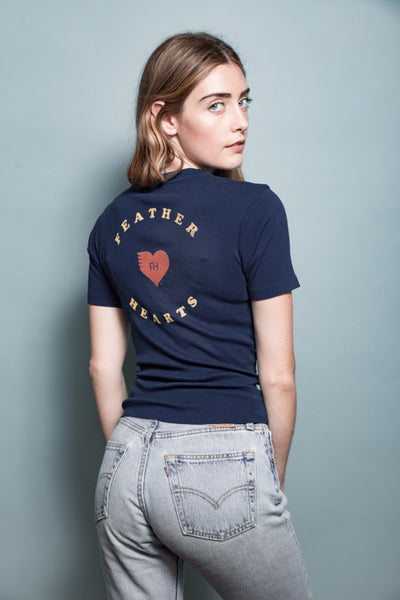 retro feather hearts logo neck uo who what wear vogue