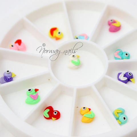 Ceramic 3-D Nail Art - Baby Duck