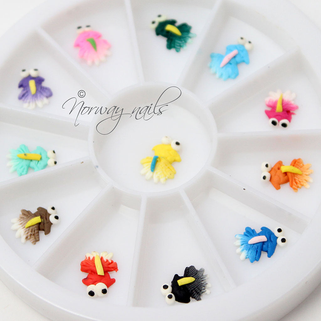 Ceramic 3-D Nail Art - Frogs