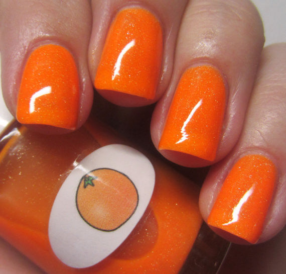 Neon Shimmer Jelly Orange