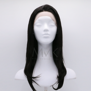 peluca lace front natural cabello humano