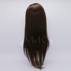 peluca lace front cabello humano natural marron cafe castaño