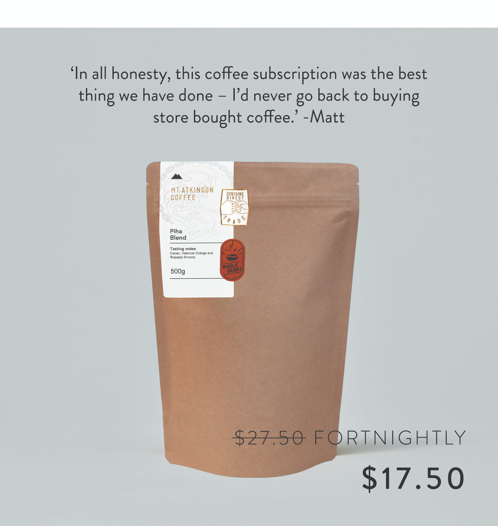 The 500g West Coast Blend Subscription.