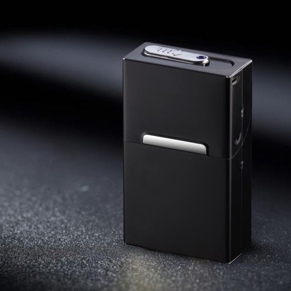 2-in-1 Cigarette Case Box Lighter